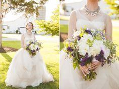 Wild, elegant flowers for this Homestead bride.  Photo Credit: Hazelton Photography