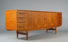 Rolling door sideboard by Johannes Andersen for sale at Deconet