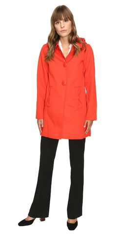 Captivating, come rain or come shine.  Color your world with the charm of the #katespadeny #Raincoat.  #outerwear #coat #jacket #apparel #clothing