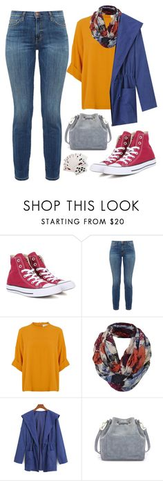 """""""Sem título #843"""" by diihpm ❤ liked on Polyvore featuring Converse, Current/Elliott, Fat Face, WithChic and Third Drawer Down"""