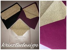 Handmade glitter envelope These envelopes perfect for wedding invitation,birthday invitation every celebration. <WHAT YOU GET> Size: LA/4 envelope (11x22 cm) B6 envelope (12,5x17,6 cm) Envelope colors: ~ All the color of the rainbow is available Extra color: ~ Pearl light: dark