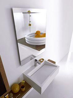 Mueble de lavabo moderno / de roble / suspendido - SIDE SYSTEM 149 - Fimar Srl