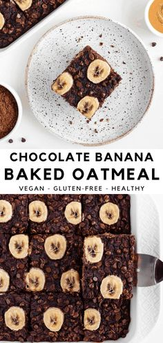 Baked Oatmeal#baked oatmeal#baked oatmeal recipes#baked oatmeal recipes breakfast#baked oatmeal recipes breakfast healthy#brown sugar baked oatmeal Vegan Baked Oatmeal, Baked Oats, Baked Oatmeal Recipes, Baked Banana, Oats Recipes, Vegan Breakfast Recipes, Vegan Desserts, Dessert Recipes, Whole Food Recipes