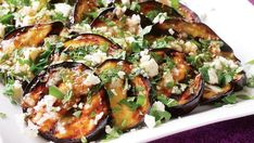 Grilling eggplant is