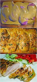 The Worlds Best Chicken Ingredients 4 boneless, skinless chicken breasts ½ cup Dijon mustard ¼ cup maple syrup 1 tablespoon red wine vinegar Salt & pepper Rosemary Source => The Worlds Best Chicken I Love Food, Good Food, Yummy Food, Tasty, Worlds Best Chicken, Best Chicken Ever, Great Recipes, Favorite Recipes, Best Recipes For Dinner