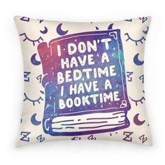 This pretty pillow would be a great Christmas present idea for a late-night reader!