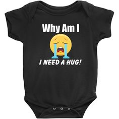 New Parent Training Onesies - Why Am I Crying - Check My Diaper I Need Your Hug, Baby Needs, New Parents, Onesies, Parenting, Sleeves, Kids, Clothes, Crying
