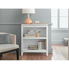 Target Bookshelf, $71.99  http://www.target.com/p/threshold-carson-2-shelf-bookcase/-/A-11111068#prodSlot=medium_1_8&term=bookshelf