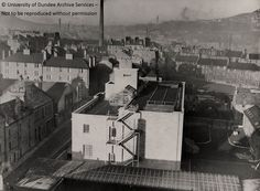 Smalls Wynd and Hawkhill from rear of Ewing Building c 1954 from University of Dundee Archives #tbt #throwbackthursday Dundee City, Online Scrapbook, Great Grandparents, Historical Photos, Family History, Old Photos, Scotland, Cities, University