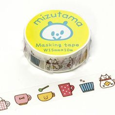 Create your projects using this super cute Japanese Washi Tape. They are easy to tear, you can write on it and they are easy to reposition. Featuring bright and colorful designs, this easy-to-use tape