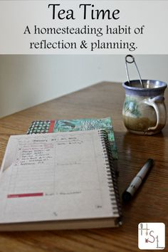 If you& trying to find some gratitude while also recording important homestead happenings and getting more organized, try creating a tea time habit for homesteading reflection and planning. Homestead Farm, Homestead Survival, Survival Skills, Survival Tips, Survival Life Hacks, Homestead Living, Backyard Farming, Backyard Chickens, Pig Farming