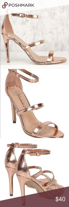 Rose gold high heel Super pretty, in perfect condition rose gold high heels. Worn once for about 45 mins (literally) size 7! Breckelles Shoes Heels