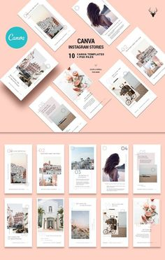 CANVA Modern Instagram Stories Pack by SilverStag on @creativemarket