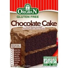Orgran's chocolate cake mix is dairy free, soya free, egg free, gluten free and wheat free. Smother it with your favourite chocolate icing for an extra chocolatey treat! It also tastes great served warm with some hot chocolatey custard! Gluten Free Chocolate Cake, Chocolate Icing, Chocolate Cake Mixes, Vegan Chocolate, Bread Mix, Slice Of Bread, Healthy Gluten Free Recipes, Vegan Recipes, Vegan Food