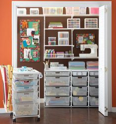 craft closet! So organized!