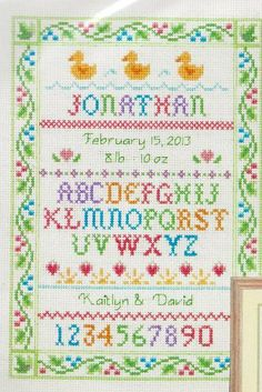 Cross Stitch Kit Alphabet Sampler From Dimensions