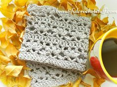 Free crochet pattern for the Crochet Boot Cuffs by Jane Green of Beautiful Crochet Stuff.