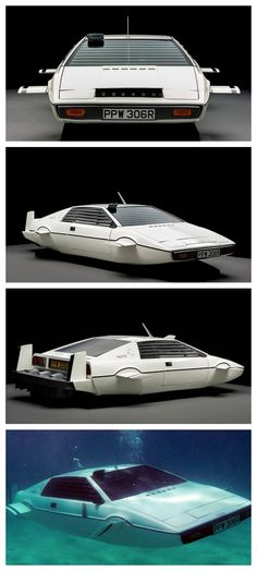"This is the Lotus submarine car from the James Bond movie ""The Spy Who Loved Me"" Vintage 007 for 1 Million Dollars! #ThrowbackThursday"