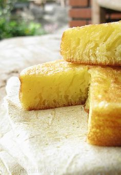 Bika Ambon (Indonesian Yeast Cake) The first few weeks after I made it to Indonesia I was offered my first piece of this amazing treat. It's truly a guilty please but if you ever ever have a chance to eat a slice DO IT! Yum!
