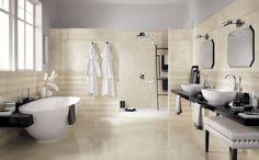 faïence salle de bains de couleur champagne Onice