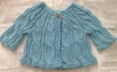 Free knitting pattern Cascading Cable cardigan sweater 6 months
