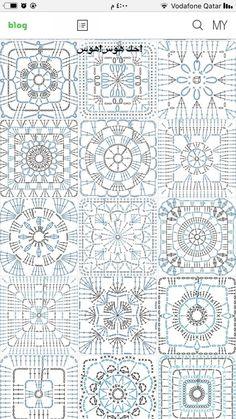 Transcendent Crochet a Solid Granny Square Ideas. Inconceivable Crochet a Solid Granny Square Ideas. Crochet Squares, Crochet Motif Patterns, Granny Square Crochet Pattern, Crochet Blocks, Crochet Diagram, Crochet Chart, Crochet Granny, Filet Crochet, Crochet Doilies