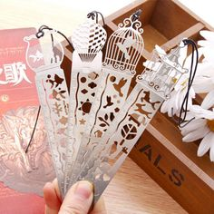 1 X Cartoon bird fish metal bookmark with ruler material escolar papelaria bookmarks for books stationery 10cm #Affiliate