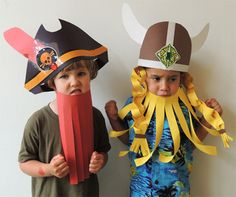 It's pirates vs. But wait! We played cooperative games to show that yes, even pirates and vikings can get along. It's pirates vs. But wait! We played cooperative games to show that yes, even pirates and vikings can get along. Carnival Tent, Carnival Signs, Carnival Outfits, Carnival Masks, Diy Pirate Costume For Kids, Cooperative Games, Pirate Day, Crazy Hats, Halloween Games