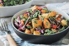 Creamy Southwest Kale and Roasted Potato Salad