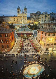 Escaleras de la Plaza de España, Roma