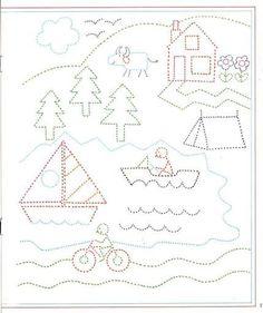 pregrafismo (173 φωτογραφίες) Kindergarten Math Worksheets, Preschool Worksheets, Learning English For Kids, Shapes For Kids, Preschool Writing, Learn Art, Pre Writing, Montessori Activities, Learning Colors