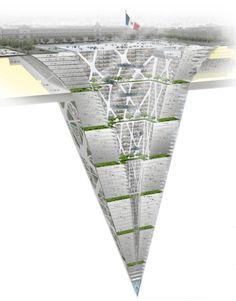 "BNKR Arquitectura's concept for an ""Earthscraper"" - Mexico City, Mexico"