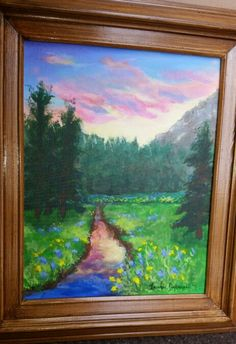 Mountain scene painted with friends