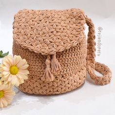 Bolso Jazmín tejido a crochet paso a paso (Video tutorial)