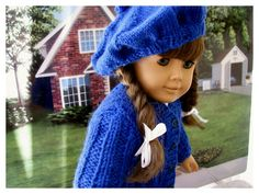 Back to School Hand Knit Sweater and Barrette by BonJeanCreations