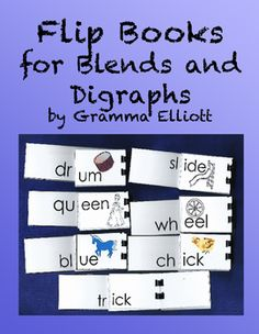 Blends and Digraph Flip Books include color and BW flip books for each of the following beginning blends.  Some of the words are illustrated and some require students to use other skills to decode.  The can be used in tutoring, small group, and cooperative learning settings.BlBrChClCrDrFlFrGlGrPhPlPrQuScShSkSlSmSnSpStSwThTwTrWhPrint these pages on 110# card stock.