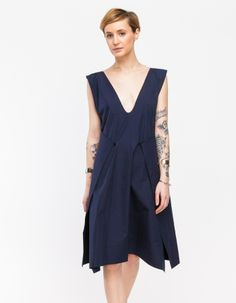 Cotton Envelope Dress in Navy by Jasmin Shokrian | Need Supply Co.