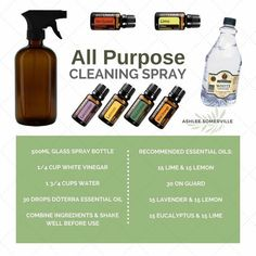 Make your own cleaning spray with doterra essential oils