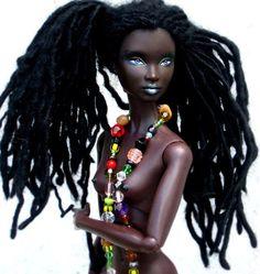 Exquisite loc-haired black Barbie