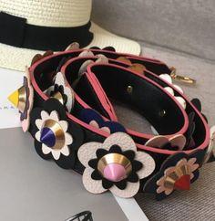 Hot fashion personality flower rivet handbags belts women bags strap women bag accessory bags parts pu leather icon bag belts