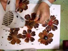 Mixed Media Altered Flower Tutorial, Part 2 - jennings644 - YouTube