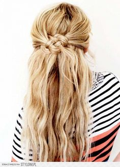 half up knot