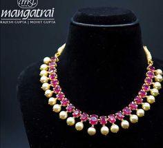 Saved by radha reddy garisa Ruby Jewelry, India Jewelry, Jewelry Art, Beaded Jewelry, Minimal Jewelry, Trendy Jewelry, Indian Wedding Jewelry, Bridal Jewelry, Gold Jewellery Design
