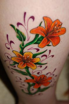 Flower Tattoos http://flowertattooforgirls.blogspot.in/2011/07/flower-tattoos.html