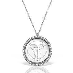 lier argint cu pietre 42 cm Indragostiti | Heart - MCN0041 Pocket Watch, Watches, Accessories, Jewelry, Diamond, Jewlery, Wristwatches, Jewerly, Schmuck