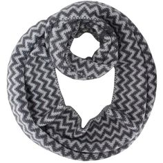 Gray & White Ultra Plush Fuzzy Eyelash Knit Chevron Infinity Scarf ($13) ❤ liked on Polyvore featuring accessories, scarves, grey, heavy, white infinity scarves, white shawl, infinity scarves, knit circle scarf and gray scarves