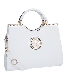 Look at this MKF Collection White Hamilton Satchel on  zulily today! Mature  Women Fashion 557c8a23bc934