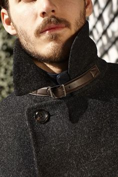 ♂ man's fashion all about details Louis Vuitton winter wear.
