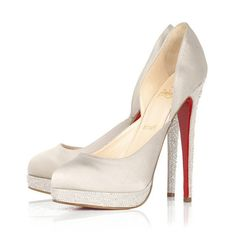 94e33a0b4f4 Christian Louboutin - Eugenie Satin Pumps with Crystal Embellishment