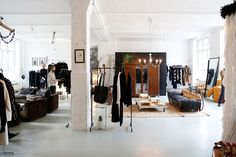 XXX Berlin: Dutch entrepreneurs Kimi De Bont, Maurice Hermes and Loes Bielars joined forces to create a store/home. A cross between a private residence, a fashion boutique and a design studio